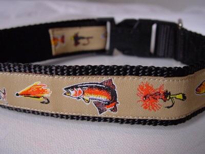 Fishes medium for Fish dog collar
